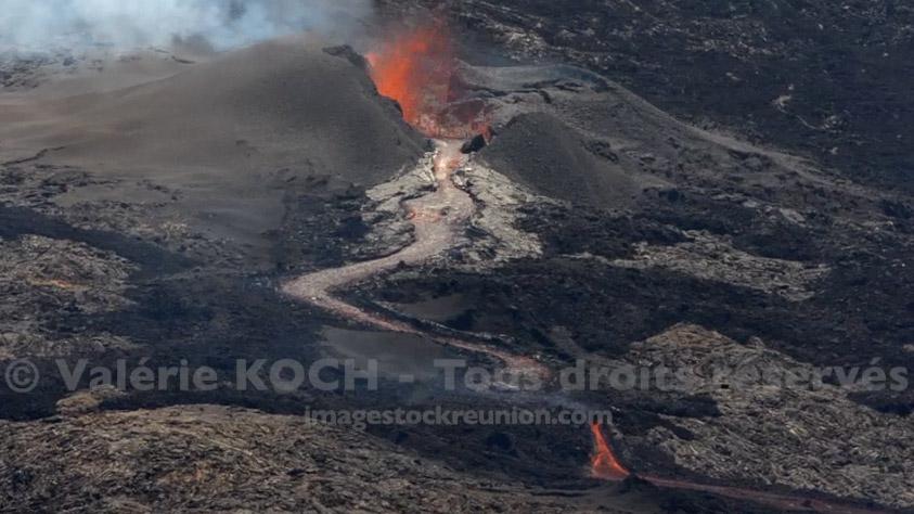 Eruption au Piton de la Fournaise © Valérie Koch - Tous droits réservés